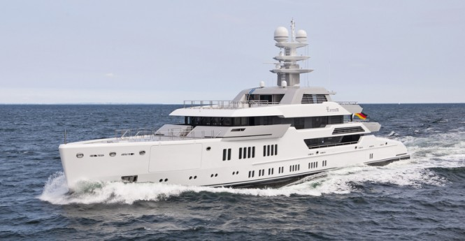 Lurssen superyacht Ester III under sea trial