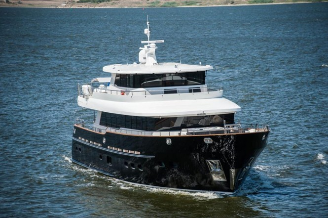 Luxury explorer yacht Destiny underway