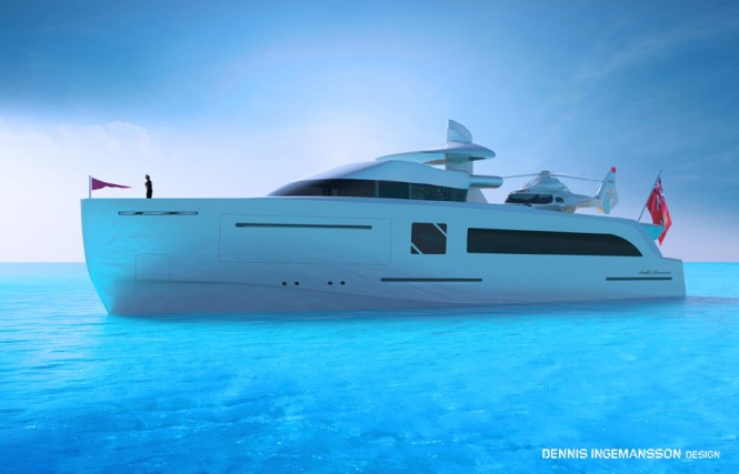 Luxury motor yacht Another Dimension concept