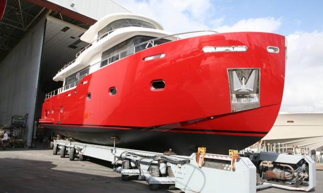 Luxury motor yacht under refit at WService Shipyard
