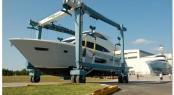 Luxury yacht Viking 75 left her building at Viking Yachts