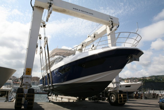 Luxury yacht under refit at WService Shipyard