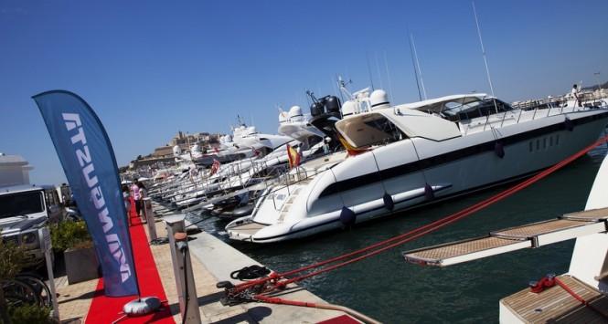 Luxury yachts at Marina Ibiza