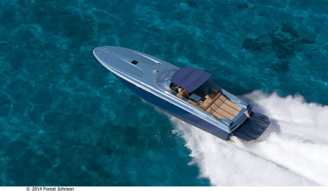 Magnum 51 yacht tender from above