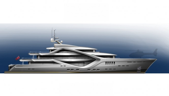 New 68m Tony Castro Yacht Concept - Profile