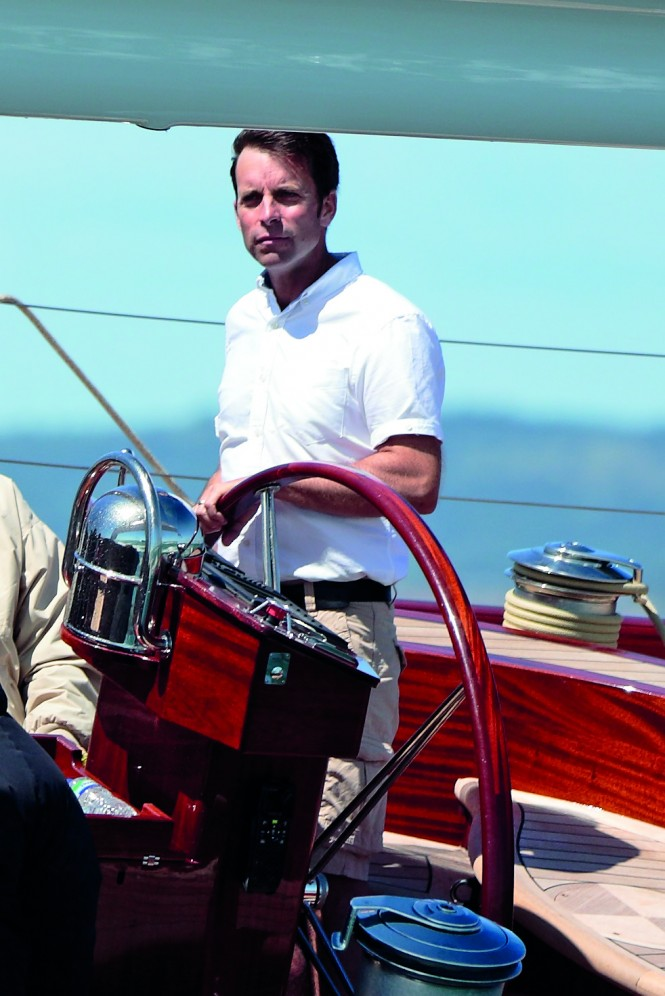Nigel Stuart at the helm of the new Spirit 74 -  Photography Credit- Anthony Morris