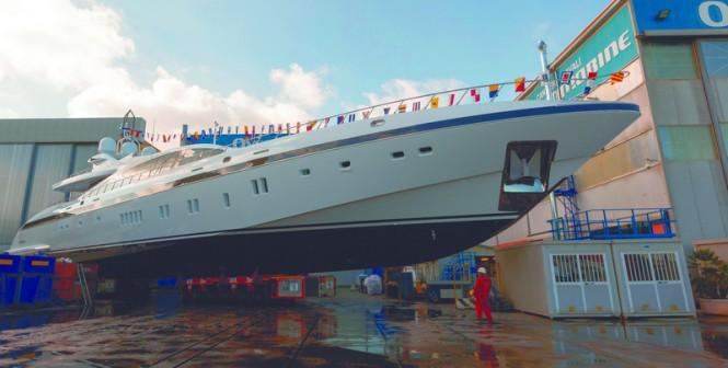 Ninth Mangusta 165 superyacht Pumpkin by Overmarine Group