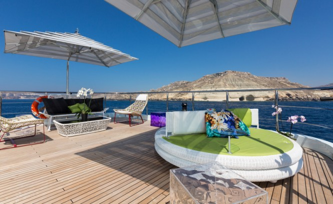 Ocean Paradise superyacht - Sundeck