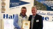 1.	Darren Vaux, Director EMBH  receiving the Hall of Fame Certificate from Colin Bransgrove, MIA
