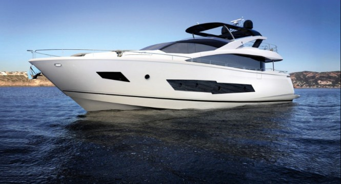 Rendering of the first Sunseeker 86 Yacht by Sunseeker International
