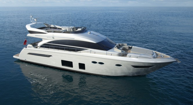 Rendering of the new motor yacht Princess 68