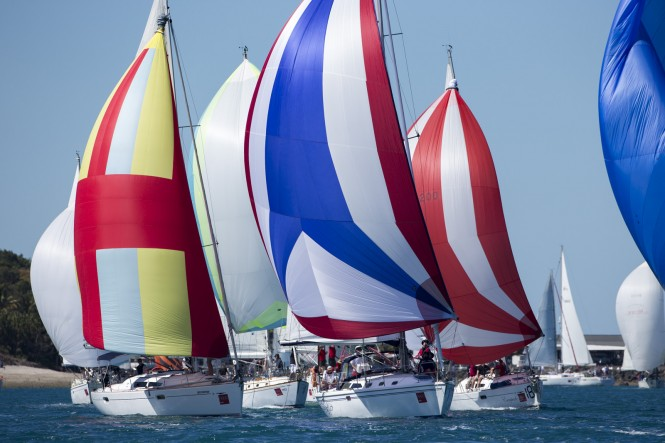 Spinnaker start from Dent Passage_credit Andrea Francolini
