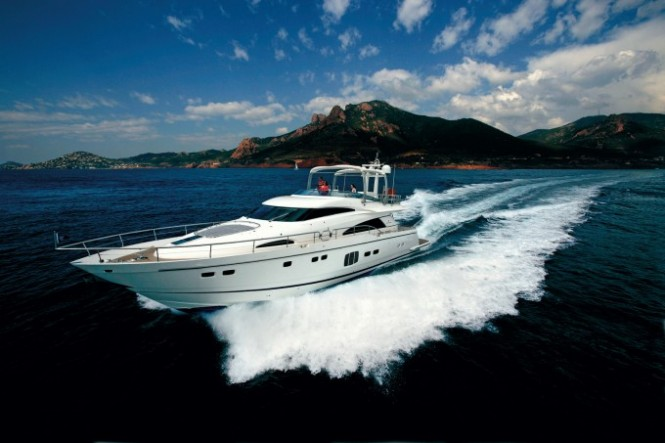 Squadron 78 Custom charter yacht XKE built by Fairline Boats