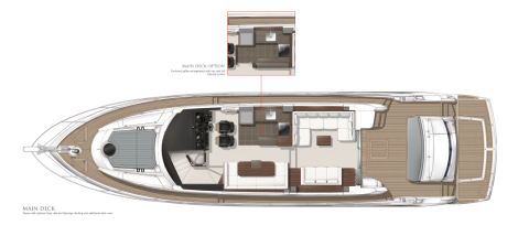 Sunseeker Manhattan 65 Yacht Main Deck Layout