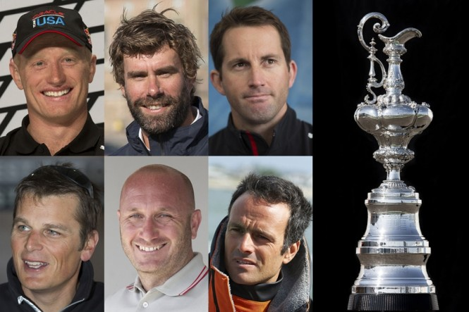 The skippers for the 35th America's Cup - Image credit to ACEA