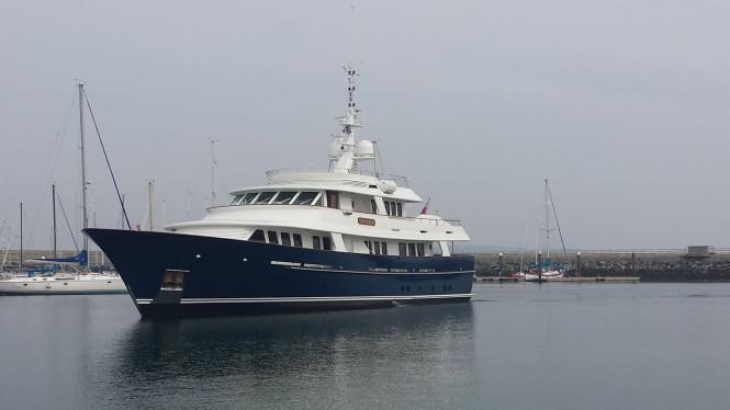 36m Royal Huisman superyacht ARCADIA at Dun Laoghaire Marine in Dublin, Ireland