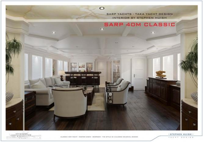 40m Sarp Classic Motor Yacht - Lounge