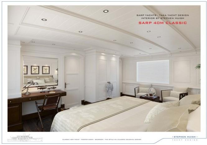 40m Sarp Classic Superyacht - Cabin