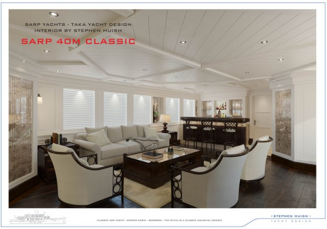 40m Sarp Classic Superyacht - Lounge