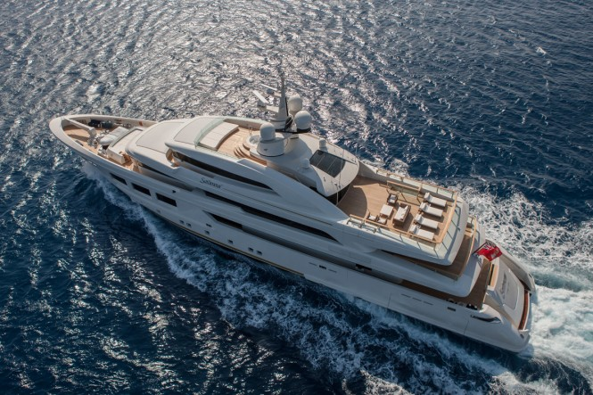 61-metre CRN Motor Yacht Saramour - Image courtesy of CRN
