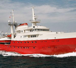 73m explorer motor yacht LEGEND (ex Giant) to be converted into a luxury charter yacht by ICON Yachts