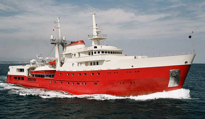 73m (240') explorer motor yacht Legend (ex Giant) to be converted by ICON Yachts