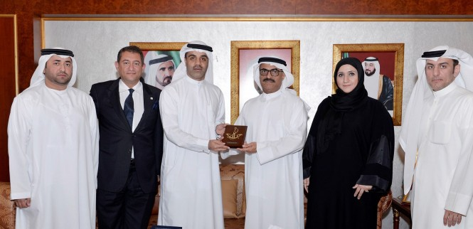 A delegation from Dubai Maritime City Authority (DMCA) at Ministry Headquarters in Dubai
