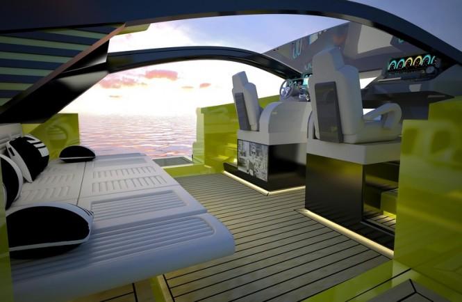 Aboard Italian Charme 45 luxury yacht tender