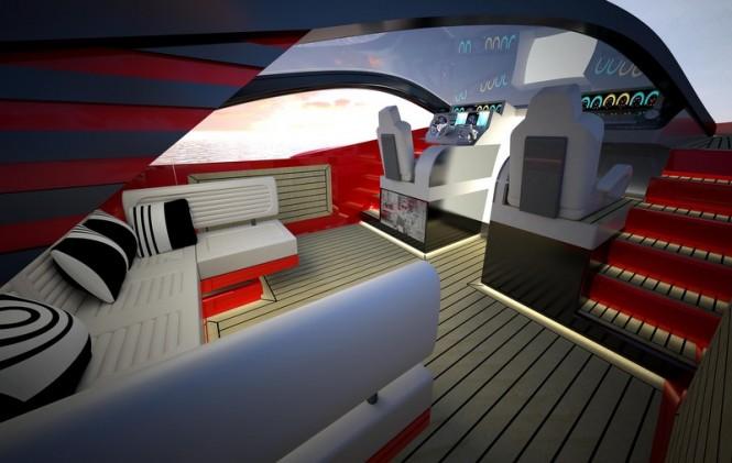 Aboard Italian Charme 45 yacht tender project