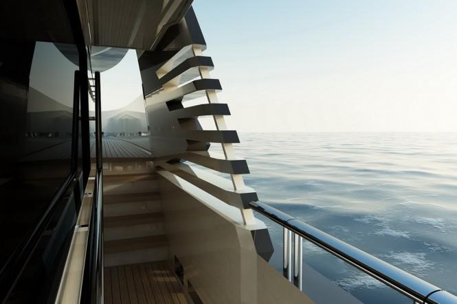Aboard super yacht DEY 24