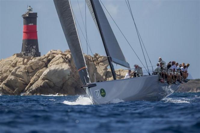 Andres Soriano's ALEGRE (GBR) rounding Mortoriotto - Photo by Rolex Carlo Borlenghi