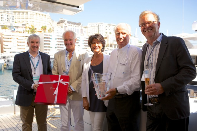 Baccarat SuperYachtWorld Trophy for the Owner of Feadship super yacht Como - Sir Neville Crichton
