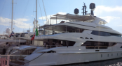 Baglietto 46M Displacement superyacht at Cannes Yachting Festival - Image credit to Baglietto