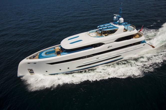 Bilgin 147 super yacht ELADA in the sea
