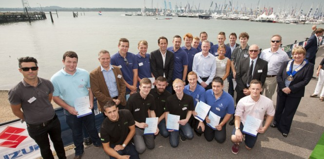 Sir Ben Ainslie at the Apprentice Awards Ceremony at the PSP Southampton Boat Show 2014