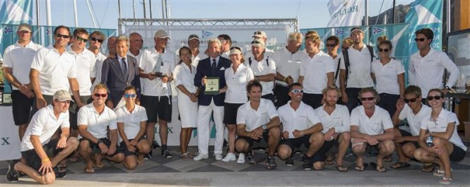CREW OF LIONHEART (NED), WINNERS OF J-CLASS DIVISION - Photo Rolex:Carlo Borlenghi