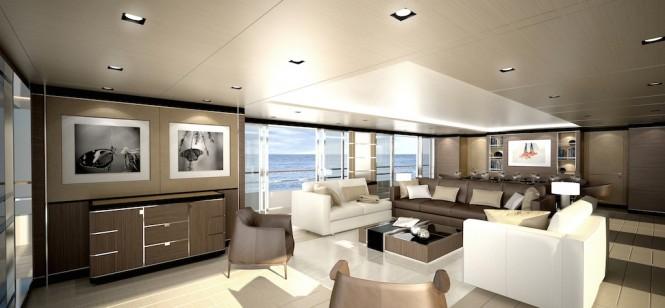 CRN Motor Yacht Conero - Main Saloon - CLASSIC