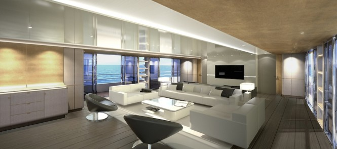 CRN Motor Yacht Conero - Main Saloon - CONTEMPORARY