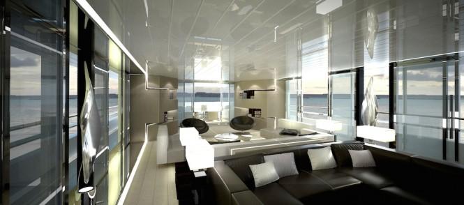 CRN Motor Yacht Conero - Main Saloon - VISION
