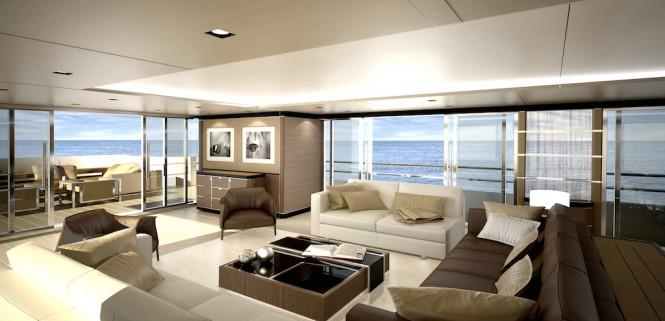 CRN Supery Yacht Conero - Main Saloon - CLASSIC