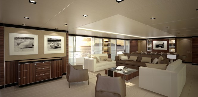 CRN luxury yacht CONERO - Main Saloon - CLASSIC