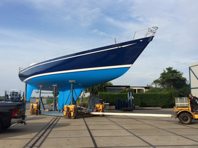 Flyer One yacht after Huisfit - photo by RoyalHuisman