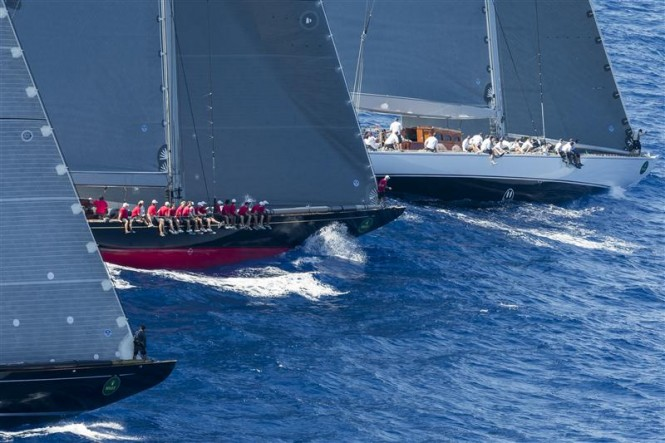 J-Class bowmen calling the start - Photo by Rolex Carlo Borlenghi