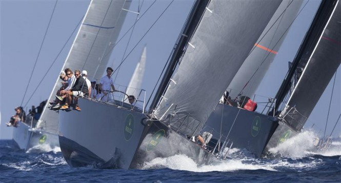 JEAN-CHARLES DECAUX'S J ONE (GBR) LEADING THE WALLY FLEET - Photo Rolex : Carlo Borlenghi