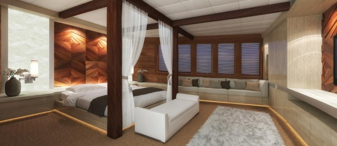 LAMIMA Yacht - Master Stateroom Rendering