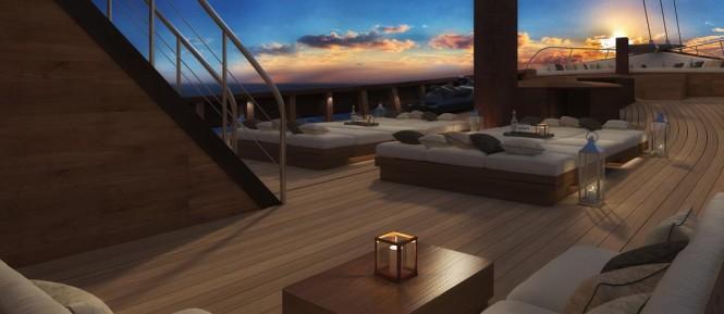 LAMIMA yacht - Main deck rendering