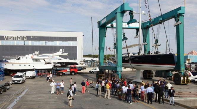 Launch of V80 super yacht Nakupenda at Vismara Marine
