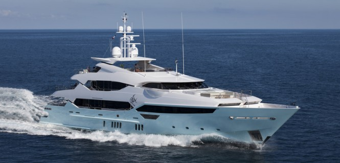 Luxury motor yacht BLUSH underway
