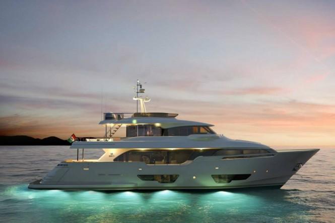 Luxury motor yacht Navetta 28