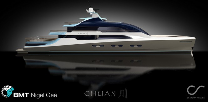 Luxury motor yacht Project Chuan by Claydon Reeves and BMT Nigel Gee